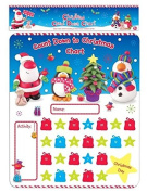 Christmas Activity Count Down Chart Kids Child Family Stickers Pen Decorate Reward Party