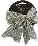 Christmas Diamante Look Decorative Bow - 15cm x 18cm