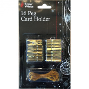 16 Peg Card Holder in Gold