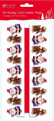 18 x Wooden Novelty Santa & Reindeer Christmas Card Holder Pegs & 2 Metres of Ribbon