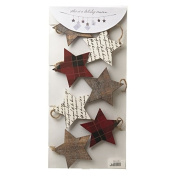 Star Garland Card Holder / Hanging Decoration with Clips