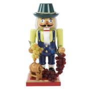 Kurt Adler Wooden Winemaker Nutcracker, 26cm