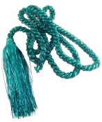 2.75m Pastel Rope Garland With Tassels - Turquoise Blue - Christmas Decorations - Tinsel.