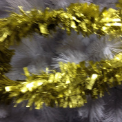 7.6m Gold Embossed Thick and Thin Cut Luxury Tinsel