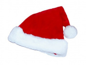 LUXURY MERRY CHRISTMAS SANTA HAT WITH LARGE WHITE POM-POM- one size.