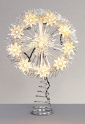 Premier Decorations 26cm Battery Operated Light up Snowflake Christmas Tree Topper
