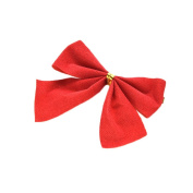 Changyin-UK 10X Christmas Tree Bow Party Garden Bows Ornament Mantle Home Decor
