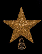 27cm Beautiful Gold Sparkly Tinsel Tree Top Star - Christmas Tree Topper