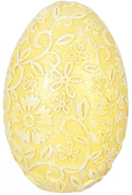 Clayre Eef Decorative & AMP; 6PR0533 Decorative Egg Yellow approx. 6 x 9 CM