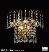 Rosina Wall Lamp Switched 2 Light French Gold/Crystal