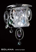 Solana Wall Lamp 3 Light Polished Chrome/Crystal