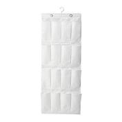 IKEA SKUBB - Hanging shoe organiser w 16 pockets, white