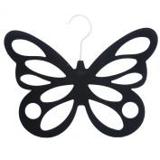 Black Butterfly Design Flocked Scarf Hanger