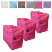 3 Pack - Big Handy Bag By Luxelu in Hot Pink - For Stylish Storage, Laundry, Home Organisation Etc - Large and Reusable - Available in 6 Stunning Colours