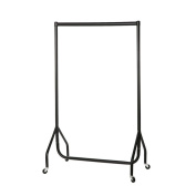 Drakes Display Large 61.5cm x 155cm x 51cm/0.6m Clothes Garment Rail Rack Display with Wheels, Strong Steel/High Quality, Compact for Easy Store Away and Transport, Black
