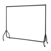 Drakes Display Large 183xm x 155cm x 51cm/1.8m Clothes Garment Rail Rack Display with Wheels, Strong Steel/High Quality, Compact for Easy Store Away and Transport, Black