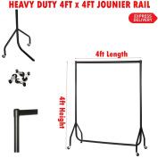 NEW 1.2mx4ft HEAVY DUTY CLOTHES GARMENT DRESS SHOP DISPLAY RAIL STAND RACK METAL