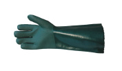 Ultimate Industrial V340 Premium Double Dipped PVC Gauntlet 41cm - Green - Size 9.5 - 1 Pair