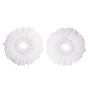 Microfiber Spin Mop Replacement Mop Head by Mopnado (2 Pack) Refill