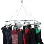 Hangerworld 26 Peg . Aluminium Metal Sock & Underwear Indoor Clothes Dryer Airer - Keep Smaller Laundry Items Together