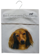 Dachshund Longhair Breed of Dog Sturdy Natural Cotton Canvas Peg Bag - Useful Gift