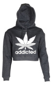 Womens Addicted Crop Top Hoodie
