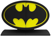 Batman Logo Bookends Statue, Black and Yellow