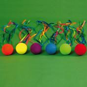 Kids Gymnastic Activity & Dancing Set Of 6 Ribbon Balls Assorted