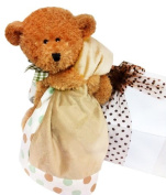 Bear and Blankie Baby Gift Set - Brown