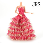 Buytra Handmade Gorgeous Barbie Doll Party Clothes Dress