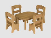 Amish-Made, Handcrafted Wooden Doll Furniture - Oval Table