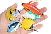 Tropical Fish Animal Figurines - Mini Fish Action Figures Replicas - Miniature Ocean, Fish, Aquatic Toy Animal Playset