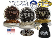 "Crazy Aaron's Thinking Putty Precious Metals Gift Set Bundle Including ""Good as Gold"", ""Copper Crush"", ""Pure Platinum"" & Bonus ""Matty's Toy Stop"" Storage Bag - 3 Pack"