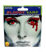 Bloody Vamp Face Stickers Tattoo, 3-Pieces