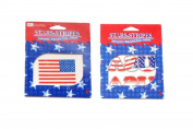 Stars & Stripes Red White and Blue Patriotic Temporary Tattoos