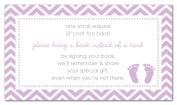 48 Purple Baby Feet Footprint Bring A Book Cards