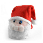 San Tokra Novelty Christmas Plush Hat Santa Claus Face Caps Earflap Winter Hats