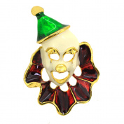 Party Clown Mask Brooch Pin