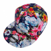 ZLYC Women Fashion Floral Print Adjustable Casual Snapback Baseball Cap Hat