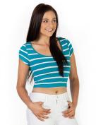 Azkara Womens Summer Cotton Short Sleeve Versatile Crop Top
