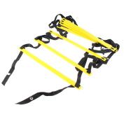 AGPtek® Nylon Straps 40cm 8-Rung Agility Ladder for Soccer, Speed, Football Fitness Feet Training