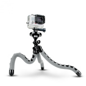 Flexible Action Cam Tripod with 360-Degree Articulating Ball Head , Bendable Wrapping Legs and Quick-Release Plate by USA Gear - Works with GoPro Hero , Sony AZ1 , Contour ROAM2 & More Camcorders