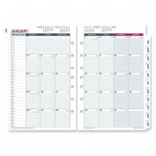 Tabbed Month-In-View Dated Calendar Refill, 8-1/2x11