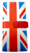 Union Jack UK Flag Womens Wallet Clutch Red White Blue