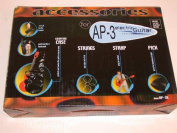 AP-3 Electric Guitar Gig Bag, Strings, & Strap Accessory Kit for 3/4 Size or 90cm