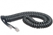 Cisco Grey Coiled Telephone Handset Cord - 3.7m Standard Length - 3.8cm Flat Leader - Heavy Duty - Universal - GUARANTEED for life | Cisco 7940 / 7965 / 7914 / 9971 / 7937 / 7960 / 7821 / 7937 / All Models - Coiled Telephone Handset Cord 3.7m
