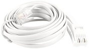 Uxcell a13112800ux0310 RJ11 to UK BT 6P2C Modular Telephone Phone Cable, 3m for Landline Telephone, White