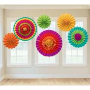 Amscan Fiesta Paper Fan Decorations