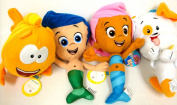 Bubble Guppies Gil, Molly, Mr Grouper and Bubble Puppy 4 Plush Doll Set 20cm