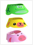 BuyHere Baby Bath Shampoo Protect Hat, Pack of 3 pcs Animals